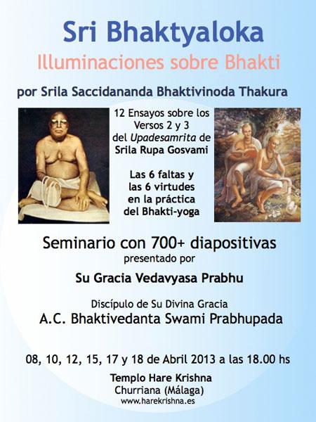 hare krishna bhakti yoga seminario